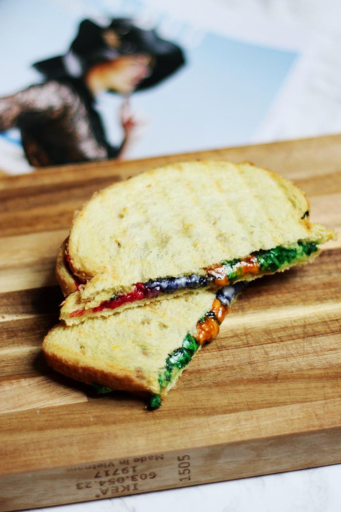 regenboog tosti recept rainbow grilled cheese recipe diy how to