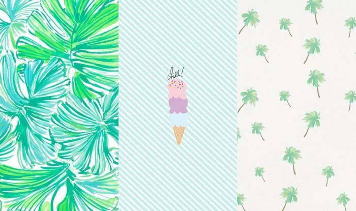 zomer wallpapers summer wallpapers ice cream leaf leafs palmtrees