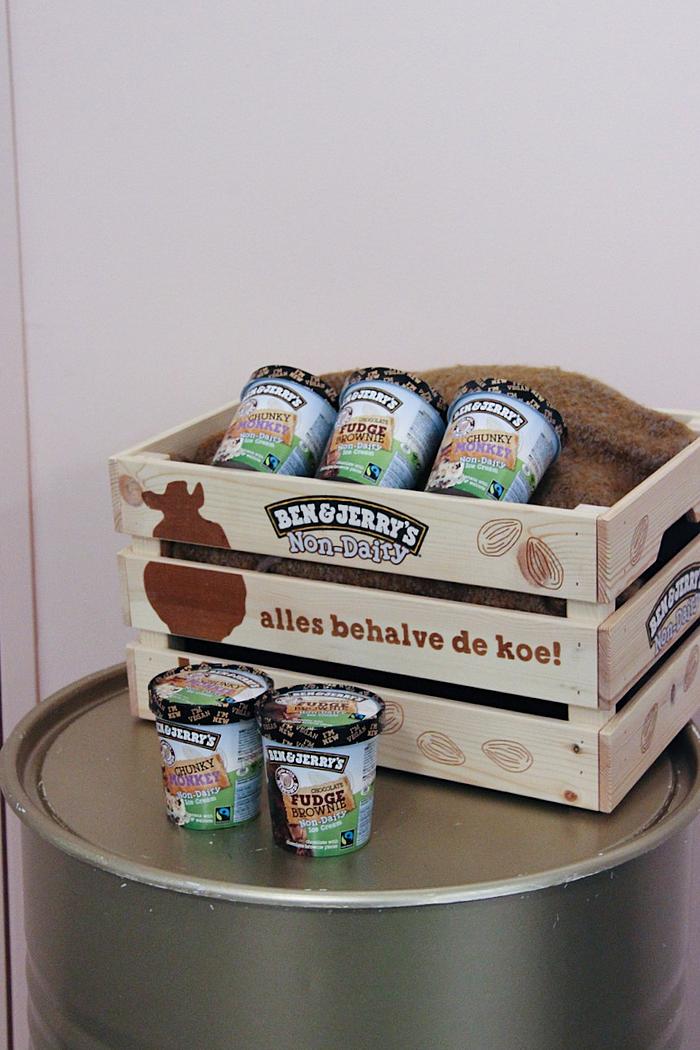 vegan ben & jerry's ijs non-dairy chocolate fudge brownie chunky monkey veganistisch lactosevrij koemelkvrij albert heijn review ervaring