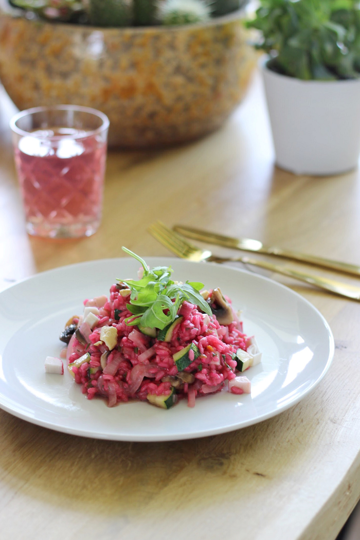 roze risotto recept basisrecept risotto bietensap hellofresh recept