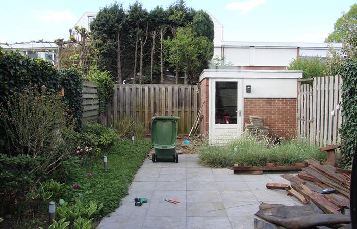 achtertuin verbouwing voor en na foto's tuinverbouwing