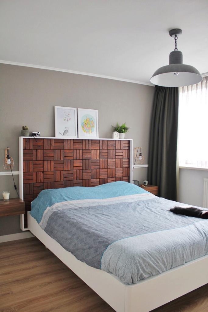 hoofdbord maken hoofdbord bed maken diy hoofdbord slaapkamer hoofdbord zelf maken voor achter je bed