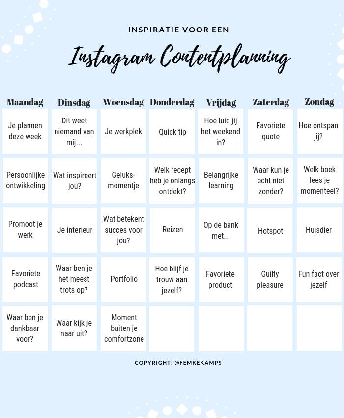 contentplanning instagram