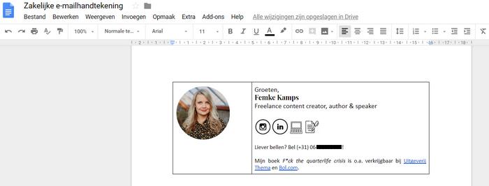 zakelijke e-mailhandtekening tips